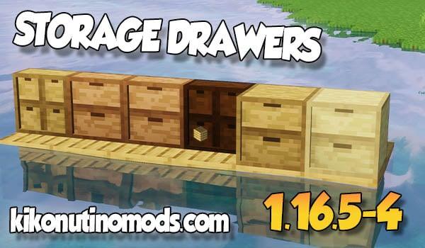 【Storage Drawers MOD】 para Minecraft 1.16.5 y 1.16.4
