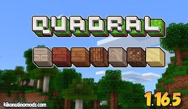 Quadral Pack de Texturas 16×16 para Minecraft 【1.16.5 y 1.12.2】