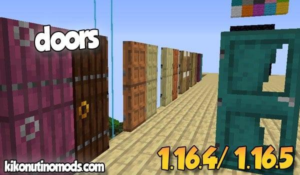【Macaw's Doors MOD】 para Minecraft 1.16.5 y 1.16.4