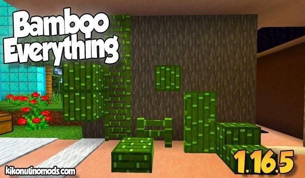Bamboo Everything MOD para Minecraft 1.16.5
