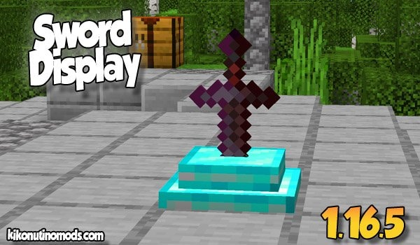 Sword Displays MOD para Minecraft 1.16.5