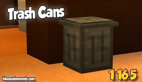 Trash Cans MOD para Minecraft 1.16.5