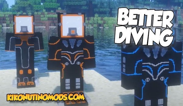 Better Diving Mod para Minecraft 1.16.5 y 1.12.2