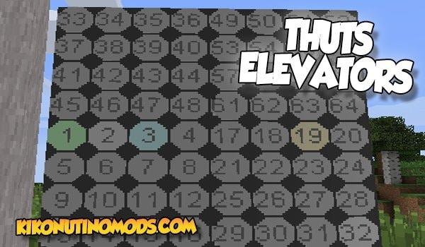 Thuts Elevators Mod para Minecraft 1.16.5 y 1.12.2