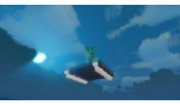 Just A raft por debajo