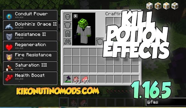 Kill For Potion Effects Mod Minecraft 1.16.5