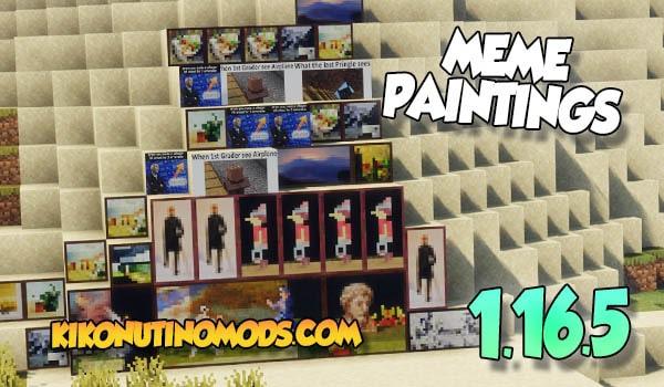 Meme Paintings Mod Minecraft