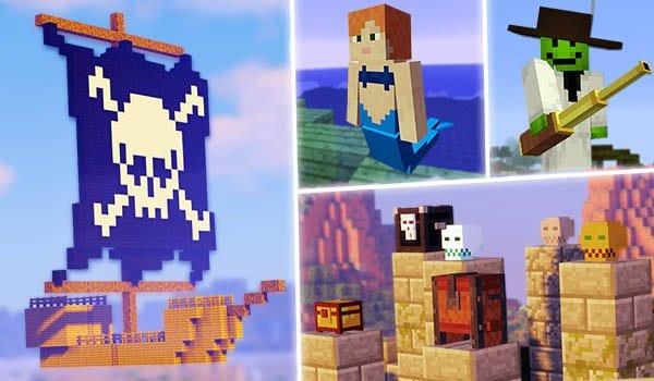 Los mods que salen en la serie Piratas para Minecraft