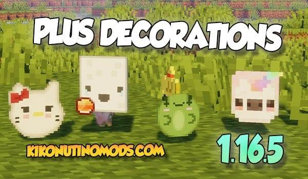 Plus LIfe Craft Decorations Mod Minecraft 1.16.5