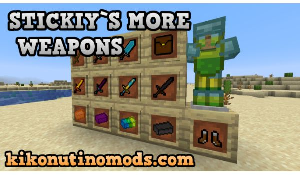 Stickiys-more-weapons-mod-minecraft-1-16-5-descargar-gratis-en-español