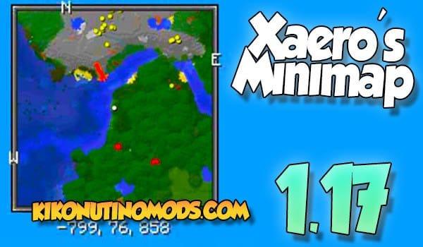 Xaeros Minimap mod para Minecraft 1.17